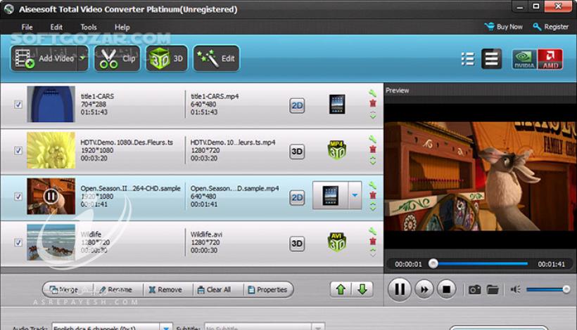 نرم افزار تبدیل فیلم Aiseesoft Total Video Converter 8.1.6