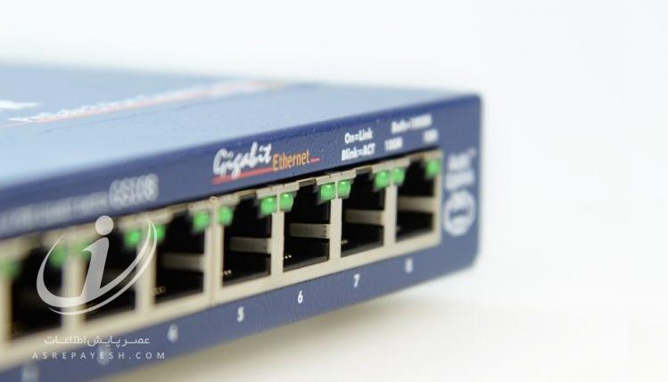 تبدیل کامپیوتر به سوییچ اترنت